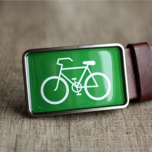 Bicikli övcsat (zöld), Övcsat, Öv & Övcsat, Ruha & Divat, Ékszerkészítés, Mindenmás, Ha SÜRGŐS, kérdezz vásárlás előtt, lehet, hogy van belőle kész darabom is.\n_________________________..., Meska