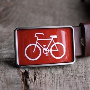Bicikli övcsat (piros), Övcsat, Öv & Övcsat, Ruha & Divat, Ékszerkészítés, Mindenmás, Ha SÜRGŐS, kérdezz vásárlás előtt, lehet, hogy van belőle kész darabom is.\n_________________________..., Meska