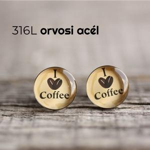 Kávé nemesacél mandzsetta gombok, Mandzsettagomb & Nyakkendőtű, Ékszer, Ékszerkészítés, Mindenmás, Ha SÜRGŐS, kérdezz vásárlás előtt, lehet, hogy van belőle kész darabom is.\n_________________________..., Meska