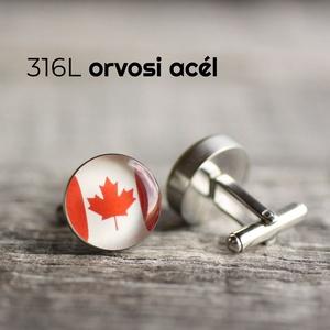 Kanadai zászló nemesacél mandzsettagombok, Férfiaknak, Vőlegényes, Mandzsettagomb, Hagyományőrző ajándékok, Ékszerkészítés, Mindenmás, Ha SÜRGŐS, kérdezz vásárlás előtt, lehet, hogy van belőle kész darabom is.\n_________________________..., Meska