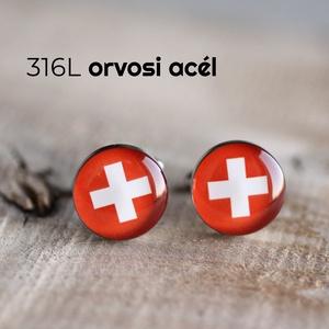 Svájci zászló nemesacél mandzsettagombok, Mandzsettagomb & Nyakkendőtű, Ékszer, Ékszerkészítés, Mindenmás, Ha SÜRGŐS, kérdezz vásárlás előtt, lehet, hogy van belőle kész darabom is.\n_________________________..., Meska