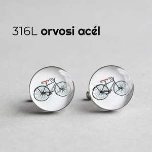 Kerékpár nemesacél mandzsettagombok (fehér, piros), Mandzsettagomb & Nyakkendőtű, Ékszer, Ékszerkészítés, Mindenmás, Ha SÜRGŐS, kérdezz vásárlás előtt, lehet, hogy van belőle kész darabom is.\n_________________________..., Meska