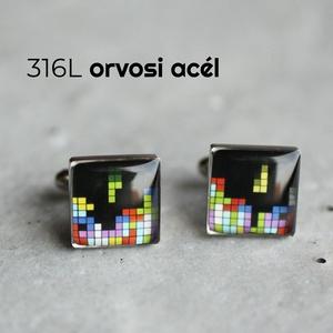 Tetris mandzsetta gombok, Mandzsettagomb & Nyakkendőtű, Ékszer, Ékszerkészítés, Mindenmás, Ha SÜRGŐS, kérdezz vásárlás előtt, lehet, hogy van belőle kész darabom is.\n_________________________..., Meska