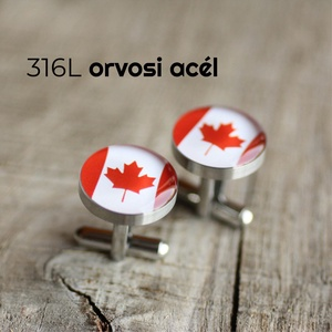 Kanadai zászló nemesacél mandzsettagombok, Mandzsettagomb és Nyakkendőtű, Ékszer, Ékszerkészítés, Mindenmás, Ha SÜRGŐS, kérdezz vásárlás előtt, lehet, hogy van belőle kész darabom is.\n_________________________..., Meska