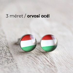 Magyar zászló nemesacél bedugós fülbevaló, Pötty fülbevaló, Fülbevaló, Ékszer, Ékszerkészítés, Mindenmás, Ha SÜRGŐS, kérdezz vásárlás előtt, lehet, hogy van belőle kész darabom is.\n_________________________..., Meska