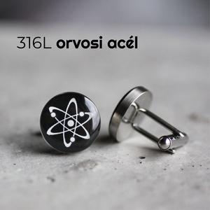 Atom nemesacél mandzsetta gombok (fekete, kerek), Mandzsettagomb & Nyakkendőtű, Ékszer, Ékszerkészítés, Mindenmás, Ha SÜRGŐS, kérdezz vásárlás előtt, lehet, hogy van belőle kész darabom is.\n_________________________..., Meska