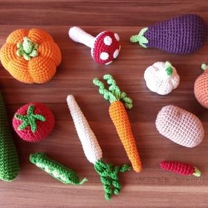 Horgolt zöldség szett  - babakonyhába, Gyerek & játék, Játék, Játékfigura, Karácsony, Kulinária (élelmiszer), Gyümölcs, zöldség, Horgolás, Varrás, Ez a zöldség szett Komendaanett kérésére került feltöltésre. Megvásárlása csak számára lehetséges. \n..., Meska