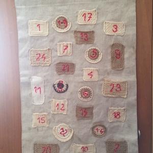 Egyedi adventi naptár, kézi kötéssel, Karácsony, Adventi díszek, Adventi naptár, Kötés, Varrás, Meska