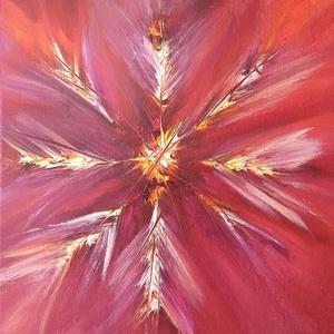J-Virág, Művészet, Festmény, Akril, Festészet, A festményt egy nagyon kedves személy inspirálta. Ezért is vannak benne intenzívebb színek. Azzal a ..., Meska