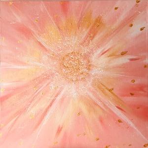 A szív arany szeme, Művészet, Festmény, Akril, Festészet, A kép mérete: 20 cm x 20 cm\nA festmény vászonpanelre lett festve, így akasztót és keretet igényel, h..., Meska