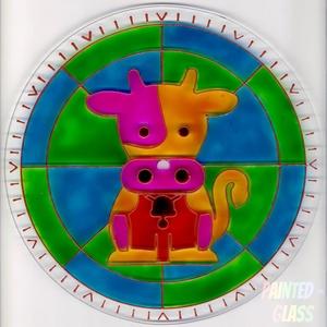 Bocis falióra, Gyerek & játék, Gyerekszoba, Egyéb, Festett tárgyak, Kézzel kifestett, kedves hangulatú, bocis üveg falióra gyermekeknek.\nSzíneiben a barna, sárga, illet..., Meska