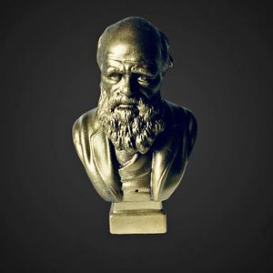 Charles Darwin mellszobor, Otthon & lakás, Egyéb, Dekoráció, Lakberendezés, Asztaldísz, Festett tárgyak, Mindenmás, 3D nyomtatott Charles Darwin mellszobor, az írósztal vagy a könyvespolc kiváló dísze lehet.\n\nA figur..., Meska
