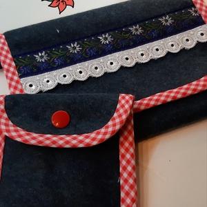 Filc oldaltáska szett, Vállon átvethető táska, Kézitáska & válltáska, Táska & Tok, Varrás, 17*13 cm-es női kistáska tracht vagy dirndl viselethez. Hozzá készítettem egy 9*8cm-es, kötényre vag..., Meska