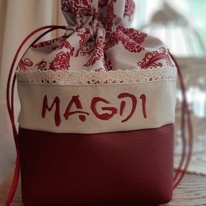 Bugyor -Magdi, Táska, Divat & Szépség, Táska, Neszesszer, Magdi, Magdolna, Magdácska.... Mintás anyagból készült bugyor, alján illő műbőrrel.  Kívül-belül tex..., Meska