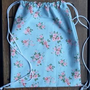 Hátizsák rózsákkal, NoWaste, Táska, Divat & Szépség, Táska, Hátizsák, 100 %  pamutvászonból készült 33x44 cm-es hátizsák. Remek, érős anyagból készült!  Mosható!   Személ..., Meska
