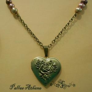 A rózsa titka, Medálos nyaklánc, Nyaklánc, Ékszer, Ékszerkészítés, Fémmegmunkálás, Antikolt bronz nyaklánc (kérésre fülbevalóval, gyűrűvel és karkötővel is ki tudom egészíteni). Medál..., Meska