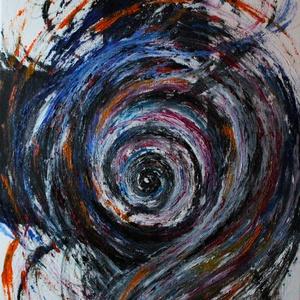Örvény, Művészet, Festmény, Olajfestmény, Festészet, Olajfestmény, absztrakt, feszített vászonra, méret 40*60cm., Meska