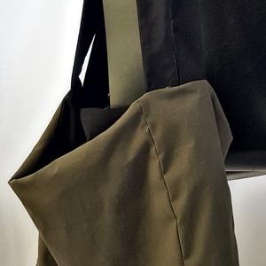 Heavy duty, Táska & Tok, Kézitáska & válltáska, Nagy pakolós táska, Varrás, Esik? Ugyan!\n\nUniszex felhasználásra tervezett táskaszatyor. Kívül khaki színű, impregnált anyag, be..., Meska