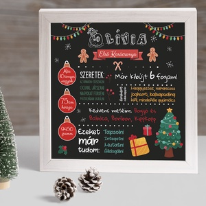 Első karácsony babaposzter, baba első karácsonya poszter, Művészet, Grafika & Illusztráció, Fotó, grafika, rajz, illusztráció, Örökítsd meg az eddigi időszakot és lepd meg vele saját gyermekedet, de akár ajándékként is tökélete..., Meska
