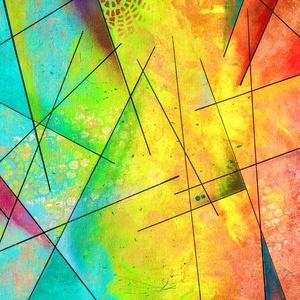 Absztrakt festmény6, Grafika & Illusztráció, Művészet, Festészet, Fotó, grafika, rajz, illusztráció, Absztrakt festmény, amely 3 mm-es kasírozott vászonra készült, akrillal. Mérete: 40x50cm. Néhány hel..., Meska