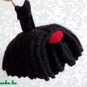Fekete,kulcstartó  puli  (Hungarikum) (pannika) - Meska.hu
