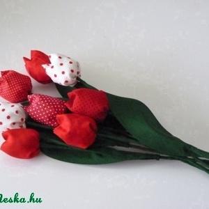 Tulipán csokor piros színekből  (pannika) - Meska.hu