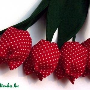 Tulipán csokor pöttyös (pannika) - Meska.hu