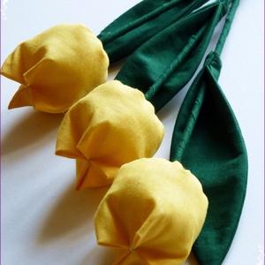 Tulipán csokor sárga színekből (pannika) - Meska.hu