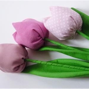Tulipánok rózsaszín virágokból (pannika) - Meska.hu