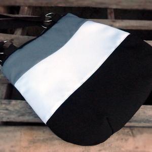 Akció! 6550 helyett  Fekete, fehér, szürke válltáska, kézitáska (pannika) - Meska.hu