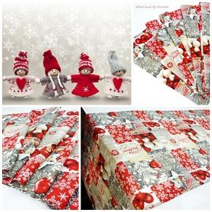 Karácsonyi asztalterítő, asztali futó, Otthon & lakás, Lakberendezés, Lakástextil, Dekoráció, Ünnepi dekoráció, Terítő, Varrás, Minőségi, vászon anyagból készült mintás terítő, futó karácsonyra.\nGyönyörű ünnepi dísz, de akár ajá..., Meska