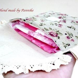 Betéttartó. Apró bordó virágmintás, romantikus kézitáska, egészségügyi táska  (pannika) - Meska.hu