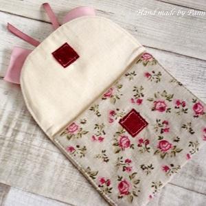 Betéttartó. Szalagos, romantikus kis táska, egészségügyi táska, neszesszer (pannika) - Meska.hu