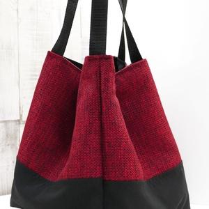 New style, new collection! Nagyméretű vörös-fekete táska Pannikától! (pannika) - Meska.hu