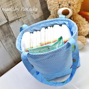 Pelenkatartó táska XXL bezárható tetejű , Gyerek & játék, Baba-mama kellék, Táska, Táska, Divat & Szépség, NoWaste, Varrás, Patchwork, foltvarrás, Utazáshoz, sétához XL méretű, egyterű vászon Pelenkatartó.\nMéretéből adódóan a táskába téve ideális ..., Meska