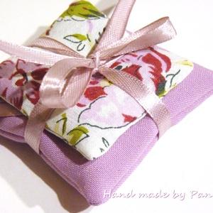 Levendula illatpárna virágos-rózsaszín (pannika) - Meska.hu