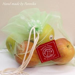 ÖKO  zsákkal a jövőnkért! NAGY méret (ZÖLD) NoWaste csomagolás!, Táska & Tok, Bevásárlás & Shopper táska, Zöldség/Gyümölcs zsák, Varrás, Öko zsákot készítettem nektek, hogy minél többen védhessük a környezetet.  \nHa csak apró lépésekkel ..., Meska