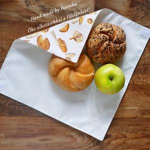 Öko szendvics-csomagolás (Kenyeres-finomságos vízálló textilszalvéta), NoWaste, Textilek, Textil tároló, Táska, Divat & Szépség, Varrás, NoWaste!  Hulladék mentes szendvics-csomagolás. Öko szalvéta. TÖBB PONTON ZÁRÓDÓ!\nNagyon finom:) min..., Meska