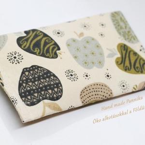 Zsebkendőtartó almácskás, NoWaste, Textilek, Textil tároló, Táska, Divat & Szépség, Patchwork, foltvarrás, Varrás, Textilből készült papír-zsebkendő tartó, amit minőségi  vászonból készítettem.\nNagyon praktikus dara..., Meska