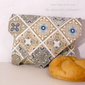 ÖKO szendvics-csomagolás (mozaikos vízálló textilszalvéta), NoWaste, Textilek, Textil tároló, Táska, Divat & Szépség, Varrás, NoWaste!  Hulladék mentes szendvics-csomagolás. Öko szalvéta. TÖBB PONTON ZÁRÓDÓ!\nSzínes mozaik mint..., Meska