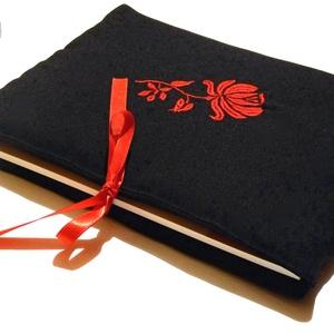 Akció! 4200 helyett.. Kalocsai virágos Könyvborító vagy  Ipod-tablet tartó (pannika) - Meska.hu