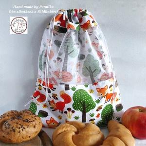 ÖKO  zsákkal a jövőnkért! NAGY méret (RÓKA móka NoWaste csomagolás!, Táska & Tok, Bevásárlás & Shopper táska, Zöldség/Gyümölcs zsák, Varrás, Meska