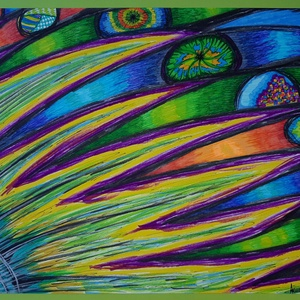 Anna\'s rajz(4), Otthon & lakás, Naptár, képeslap, album, Képzőművészet, Fotó, grafika, rajz, illusztráció, Az eladásra kínált egyedi művészi alkotás, színes világával, és mondandójával egyedi és különleges d..., Meska