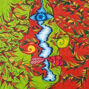 Anna\'s rajz(7), Otthon & lakás, Lakberendezés, Falikép, Fotó, grafika, rajz, illusztráció, Az eladásra kínált egyedi művészi alkotás, színes világával, és mondandójával egyedi és különleges d..., Meska