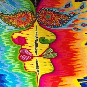 Anna\'s rajz(11), Grafika & Illusztráció, Művészet, Fotó, grafika, rajz, illusztráció, Az eladásra kínált egyedi művészi alkotás, színes világával, és mondandójával egyedi és különleges d..., Meska