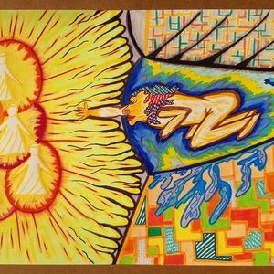 Anna\'s rajz(13), Grafika & Illusztráció, Művészet, Fotó, grafika, rajz, illusztráció, Az eladásra kínált egyedi művészi alkotás, színes világával, és mondandójával egyedi és különleges d..., Meska