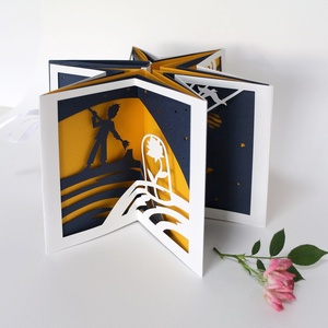 Exupéry: A kis herceg művészkönyv / The Little Prince artists\' book, Könyv, Papír írószer, Otthon & Lakás, Papírművészet, Könyvkötés, Kis példányszámban készített, karusszel típusú művészkönyvecskénk legújabb (5.) darabja, Exupéry kla..., Meska