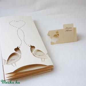 Madárkás meghívó (papirforma) - Meska.hu