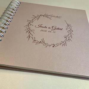 Polaroid fotókönyv rosegold színben , Vendégkönyv, Fotóalbum, Egyedi esküvői logóval, Személyre szóló, Spirálozott, Esküvő, Emlék & Ajándék, Vendégkönyv, Letisztult, modern, elegáns. És egyedi - személyre szabottan, neveitekkel készül .... Gyöngyházfényű..., Meska