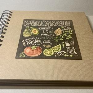 Receptkönyv barna kraft, illusztrált ételrecepttel a borítón, vonalazott lapokkal, Otthon & Lakás, Konyhafelszerelés, Receptfüzet, Papírművészet, Stílusos grafikával,  praktikus, vízhatlan borítóval, vonalazott lapokkal készített recepteskönyvet ..., Meska